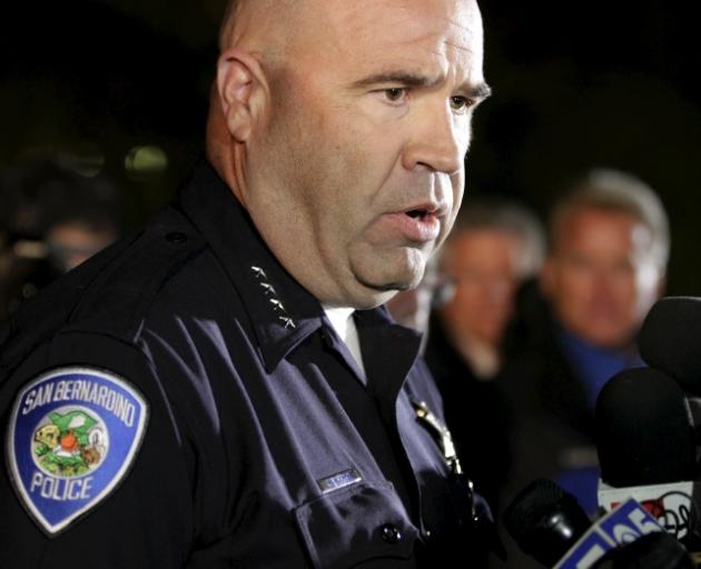 """Police Chief Jarrod Burguan: """"They came prepared."""" Photo: Reuters"""