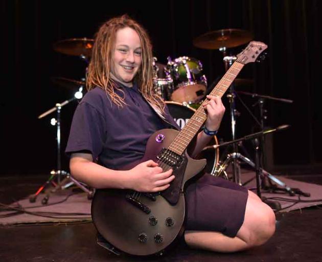 Guitarist Rohan Wingham (12), of Tahuna Normal Intermediate band Rodeo Clowns.