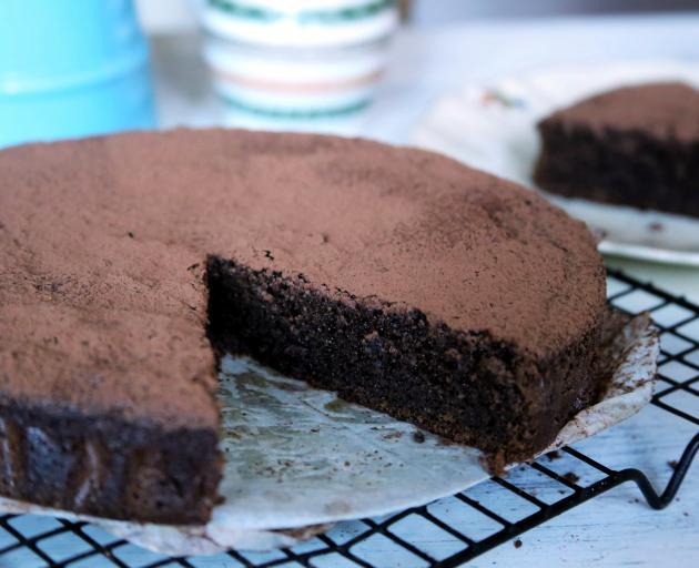 Chocolate and beetroot cake. Photo by Simon Lambert.