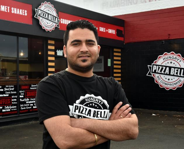 Savi Arora has opened a Pizza Bella store in Mosgiel.  Photo by Gregor Richardson.