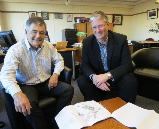 Dunedin Mayor Dave Cull (left) and DCC services and development general manager Simon Pickford...