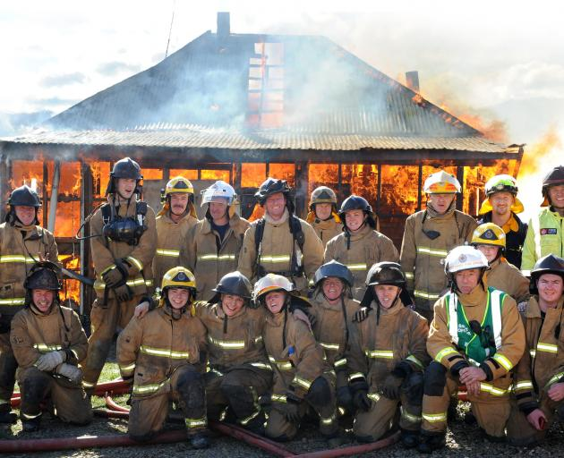 Volunteer firefighters from the Waitati, Port Chalmers, Ravensbourne and Waikouaiti stations and...