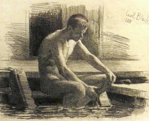Der Badende Mand (The Bathing Man), by Carl Heinrich Bloch.