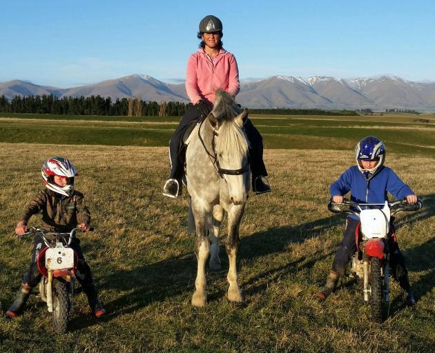 Tracy Crossan rides her stallion Ballineen Blue Mountain on the family's Ranfurly farm,...