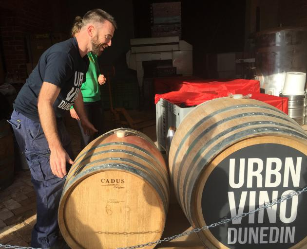 Winemaker Brendan Seal hopes a permanent location for an urban winery in Dunedin could be secured as soon as next year. Photo supplied.