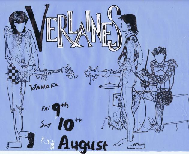 A Charlie Stone tour poster for The Verlaines.