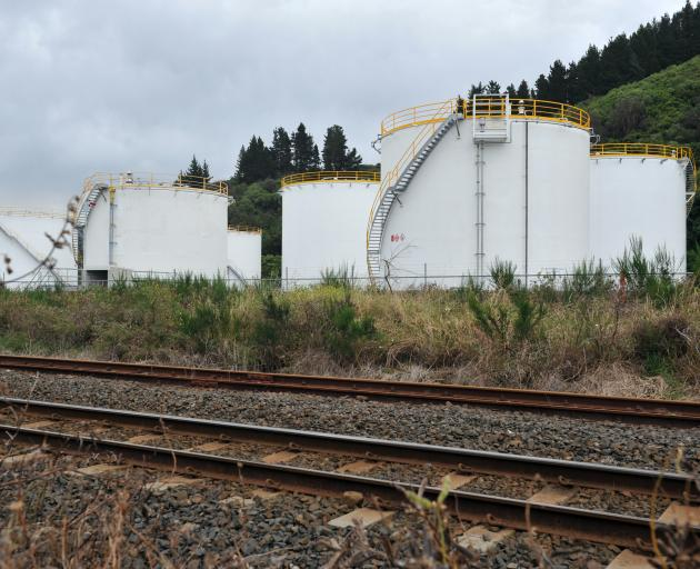 Fuel storage tanks at Ravensbourne. Photo by Christine O'Connor.