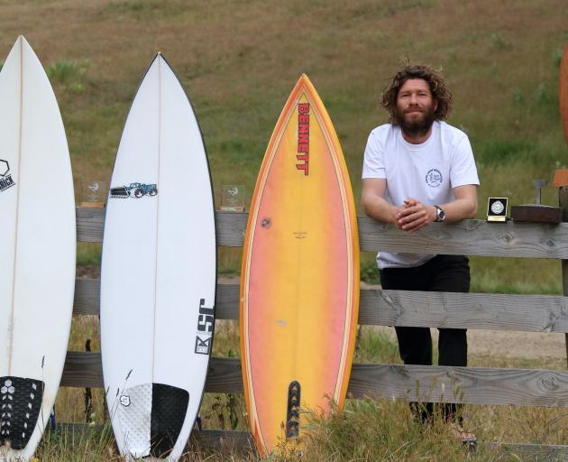 Landlocked surfer John Klevstul, of Bannockburn, is not disheartened by his proximity to the...