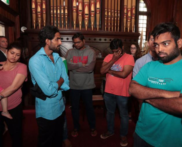 Indian students at the Unitarian Church in Ponsonby may now be able to reapply for student visas...