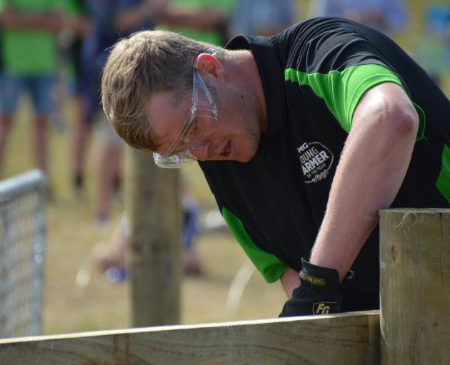 Arjan van't Klooster competes in the Aorangi regional final of the FMG Young Farmer of the Year in Methven earlier this year. Photos from FMG Young Farmer of the Year.