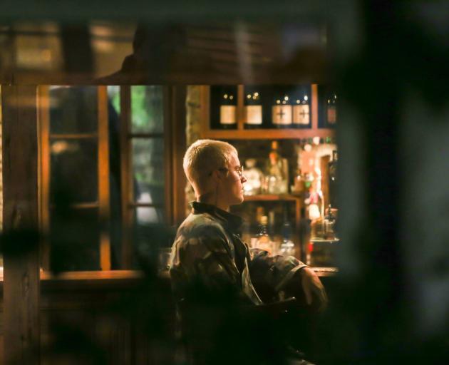 Justin Bieber in an Arrowtown bar on Tuesday evening. Photo by Blair Pattinson.