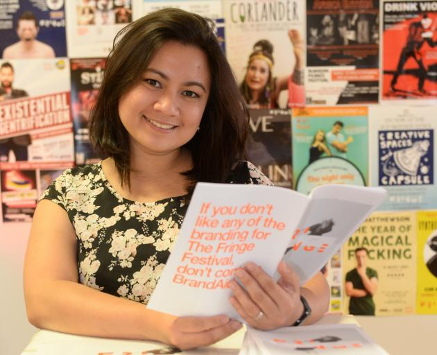 Denise Narciso, of the Philippines,  works as an intern for the Fringe Festival after studying at...