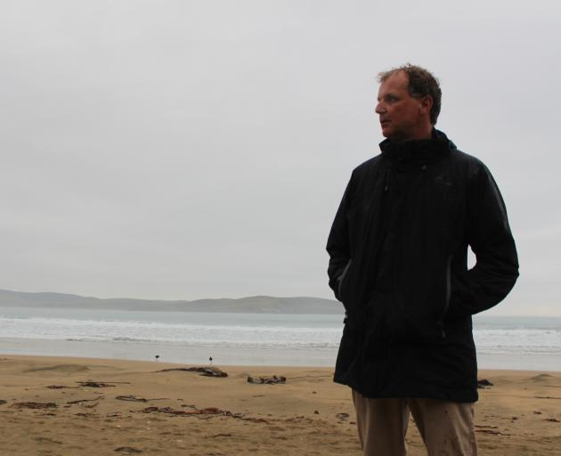 Catlins Surf owner-operator Nick Smart at Porpoise Bay yesterday where a woman was attacked by a...