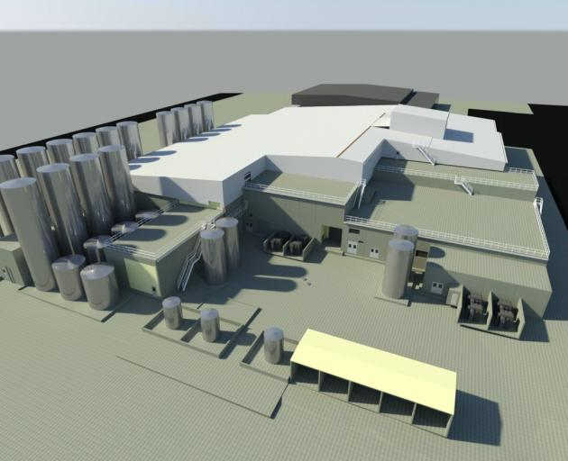 An architect's model of the new mozzarella plant at Fonterra's Clandeboye site. IMAGE: FONTERRA