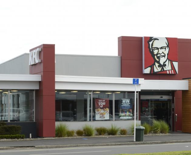 KFC in Great King St North, where today's strike is planned. PHOTO: Gerard O'Brien