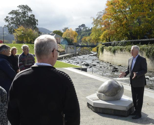 Dunedin City Council group manager arts and culture Bernie Hawke speaks at a ceremony to mark the...