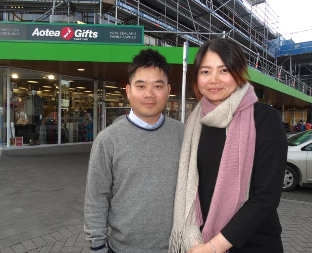 Frankie Chan and Vivian Pan outside employer Aotea New Zealand. Photo: Paul Taylor.