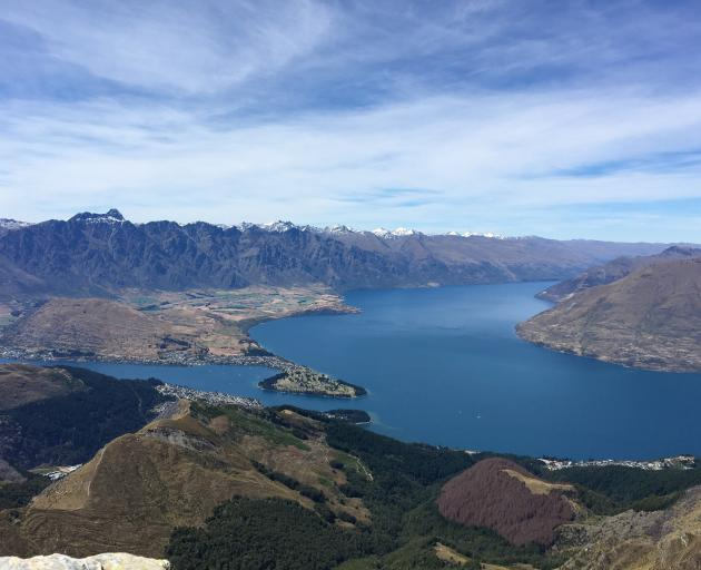 Expectations are indebted households in Queenstown and Auckland could be paying hundreds of dollars more a month with rising mortgage interest rates. Queenstown viewed from Ben Lomond last month. Photo by Meena Amso.