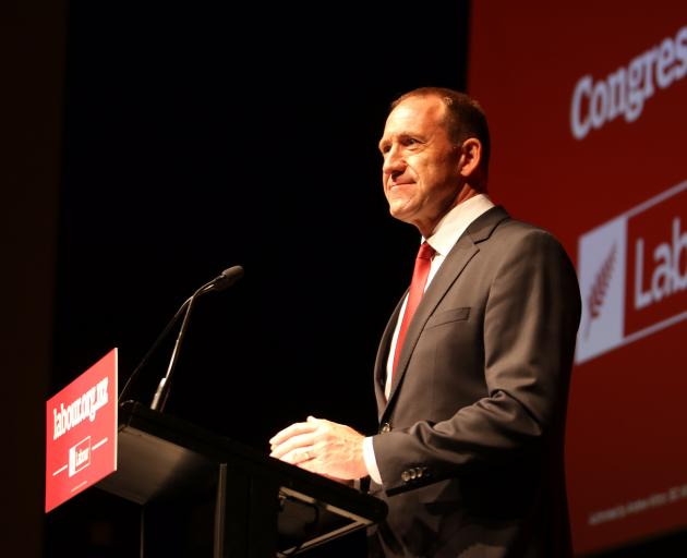 Labour Party leader Andrew Little delivers his keynote speech on housing issues at the Labour congress in Wellington yesterday. Photo: Supplied.