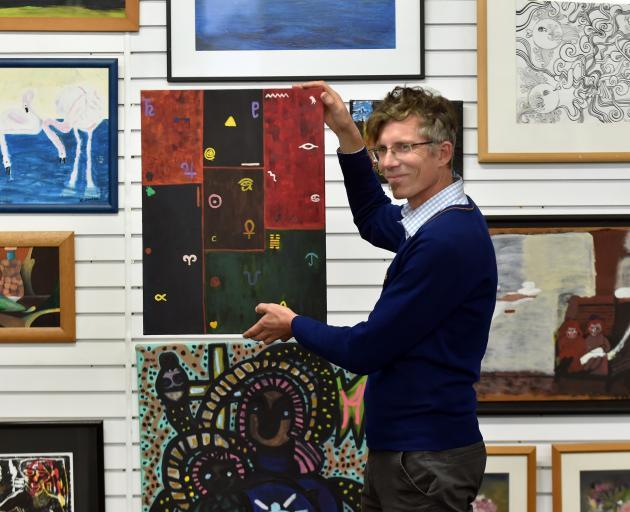Artsenta director Paul Smith in the Dunedin art studio yesterday for people in the mental health...