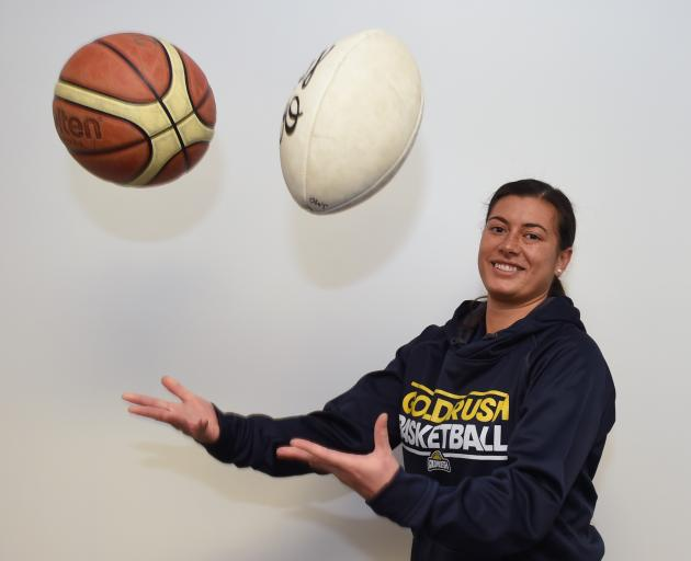 Otago basketball and sevens player Soraya Umaga-Jensen. Photo: Gregor Richardson.