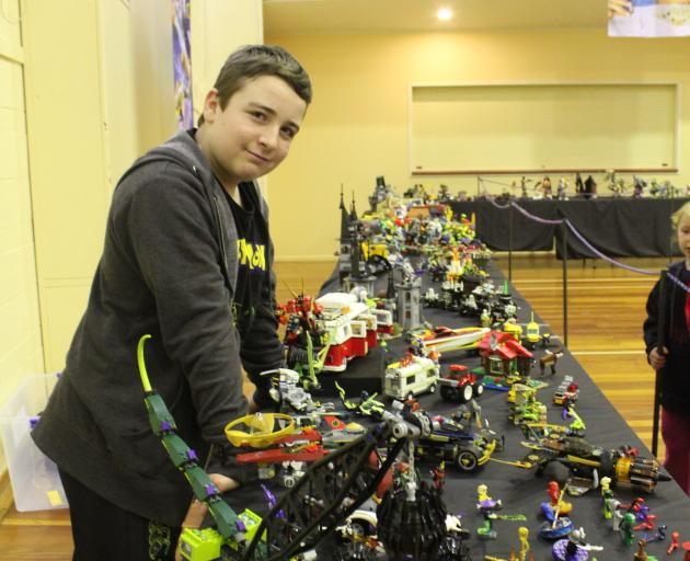 Riley Paterson (12), of Kaitangata, shows off his collection of Lego, which he has built up over...