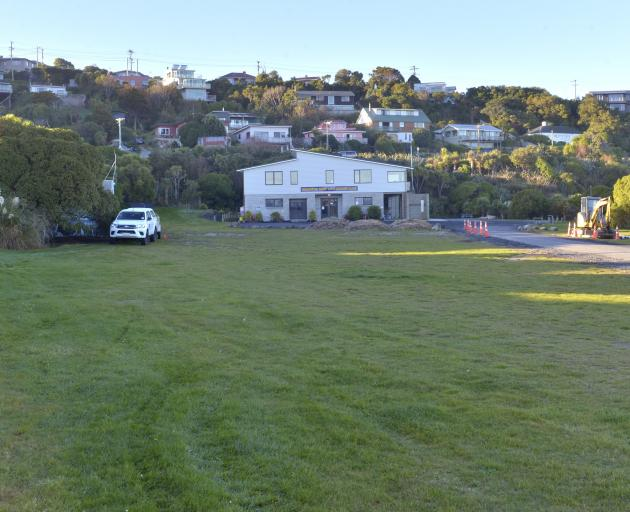The freedom camping site adjacent to the toilets beside the Brighton Surf Life Saving Club. Photo: Gerard O'Brien
