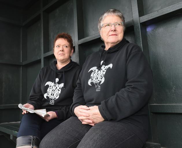 Corstorphine resident Andrea Woodford (left) and Lynley Hood, who lives in nearby Kew, at a...