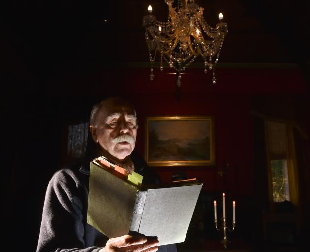 Brian McNeill prepares some creepy material for the Victorian Ghost Stories evening at Larnach...
