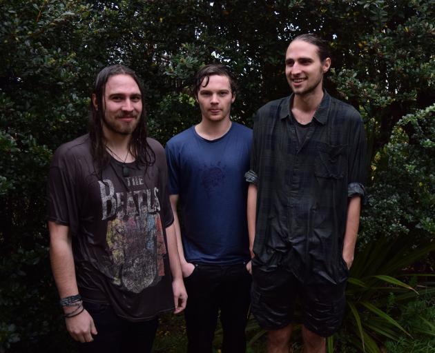 Dunedin's resident surf-rock sweethearts Koizilla (from left) Zac Nicholls, Connor Blackie, Josh Nicholls. Photo: Julie Dunn.