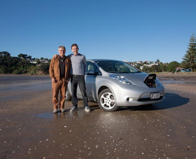 Prof Henrik Moller (left) and Dima Ivanov in Auckland this week, preparing to launch Flip and...