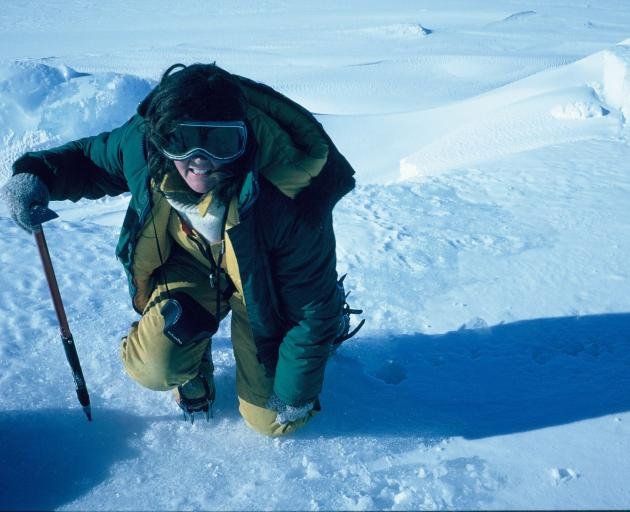 Pat Langhorne during her first visit to Antarctica, in 1985. PHOTO: VERNON SQUIRE