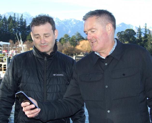 Spark chief operating officer Mark Beder (left) and its South Island head Paul Deavoll in...