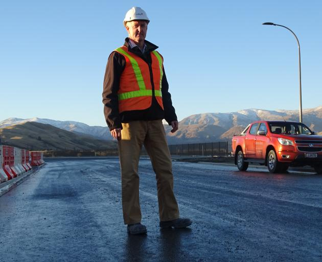 Queenstown Lakes District Council project manager Simon Brackstone stands on the new extension to...