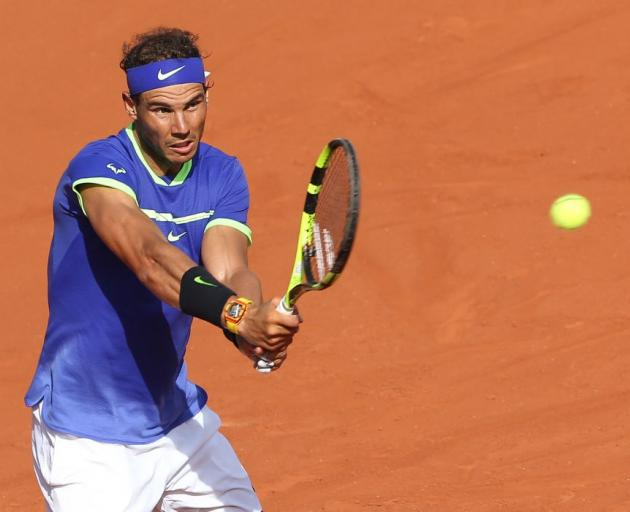 5137b7866fe325 Rafael Nadal in action at Roland Garros. Photo  Getty Images
