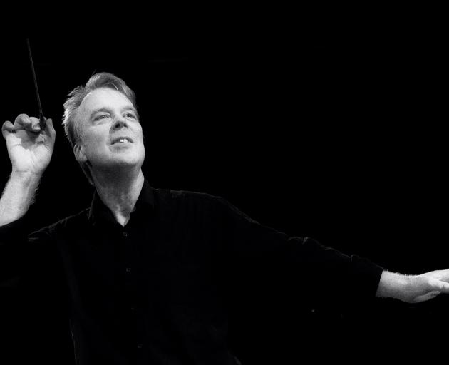 Known for ''virtually dancing on the platform'' while conducting, Richard Davis will lead the Dunedin Symphony Orchestra. Photo: Supplied