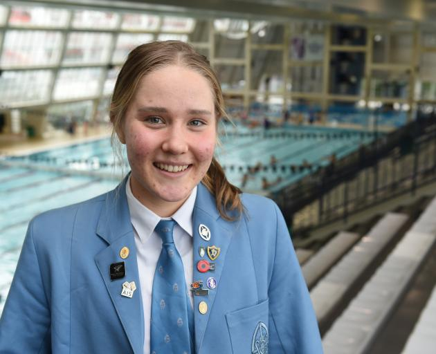 Year 12 St Hilda's Collegiate pupil Cecilia Crooks (16) at Moana Pool last week as she prepares for the busy months ahead. Photo: Gregor Richardson