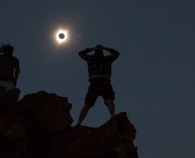 Solar Eclipse from Depoe Bay, Oregon. Photo: Reuters