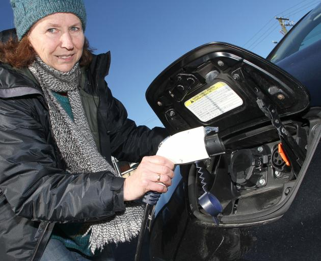 Dunedin woman Pam McKinlay is hoping more than 200 electric vehicles owners will assemble in...