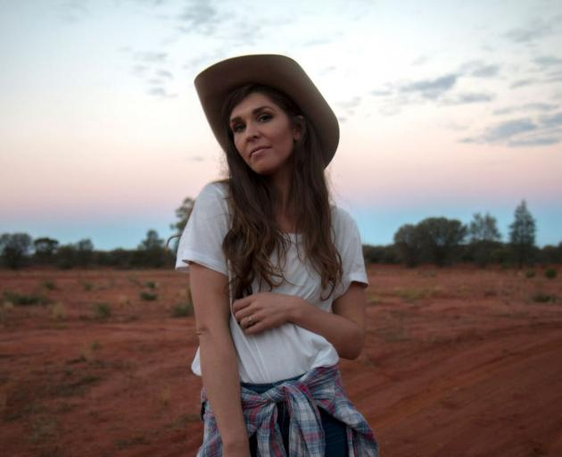 Australian country singer Fanny Lumsden spends much of her time travelling to remote locations to perform. Photo: Supplied