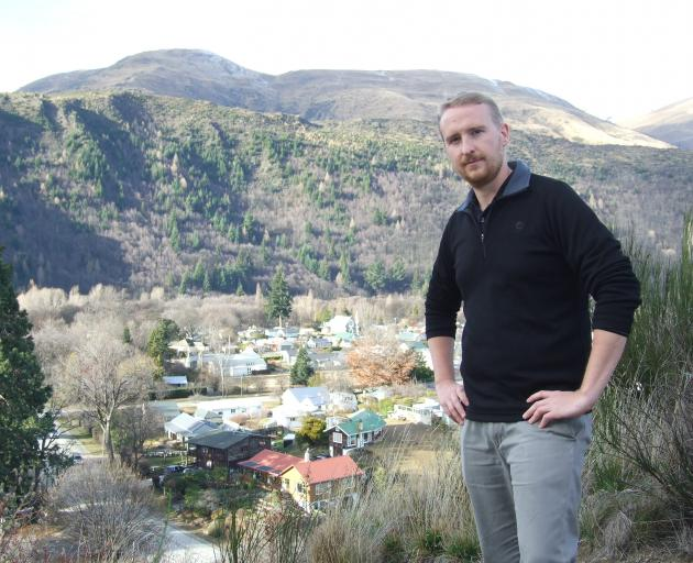 Arrowtown Wilding Group spokesman Ben Teele looks over the hillsides from which the group wants to clear wilding trees over the next 20 years. Photo: Guy Williams