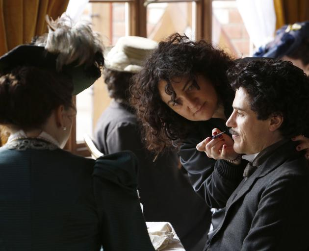 Queenstown make-up designer Davina Lamont works on United States actor T.R. Knight, as J. Edgar Hoover, in Genius. Ms Lamont has been nominated for an Emmy for her work on the National Geographic Channel drama, which charts the professional and personal l