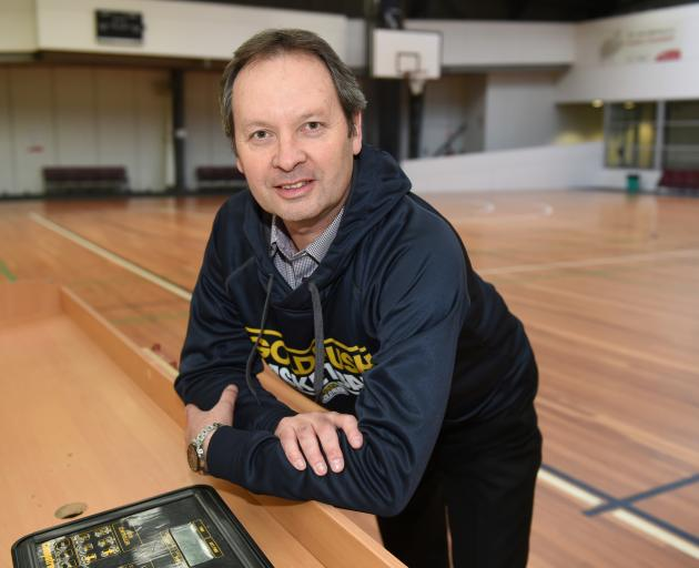 Outgoing Otago Gold Rush head coach Todd Marshall at the Edgar Centre yesterday. Photo: Gregor Richardson