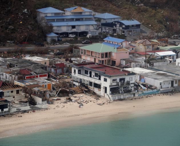 An aerial view of Irma's damage to St Martin. Photo: Reuters
