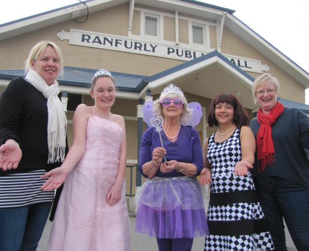 Ranfurly Musical and Dramatic Society members (from left), Sleeping Beauty co-director Lucia Dowling, cast members Lucy Neilson, Francie Morrow and Celine Ferdinands, and co-director Anne Kirk, look forward to staging the society's 75th anniversary show t