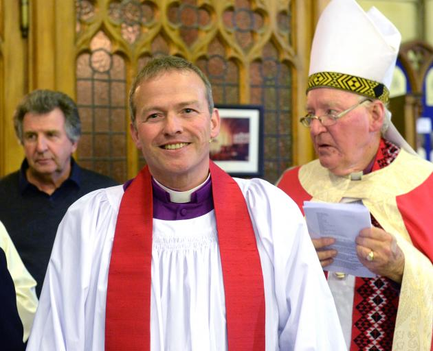 The Rt Rev Dr Steven Benford and Bishop George Connor, the  eighth Anglican Bishop of Dunedin,...