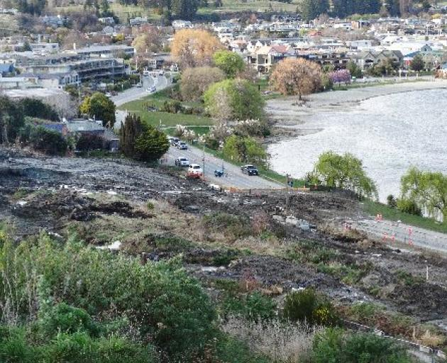 A major slip-up  . . . Wanaka lakeside residents woke  yesterday to find there had been a slow...