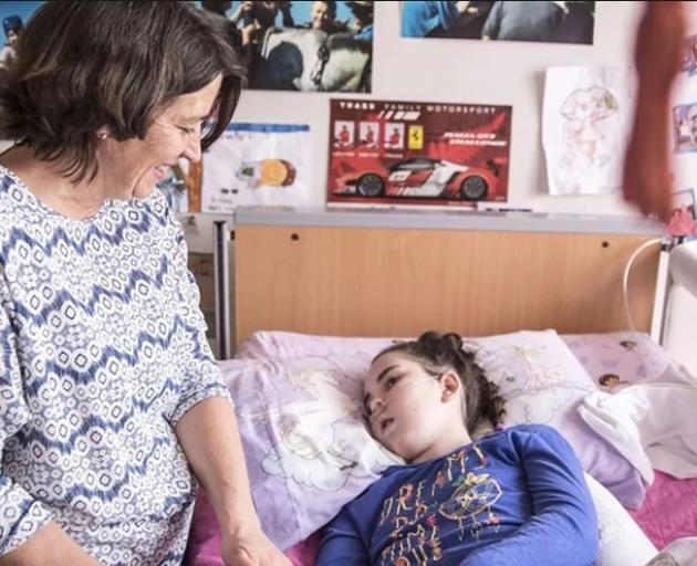Katie was diagnosed with Batten disease in 2011 and is now completely dependent on her parents. Photo: NZME