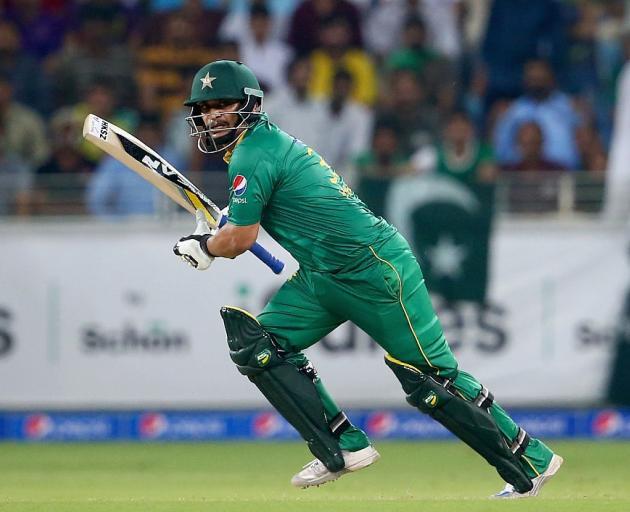 Khalid Latif bats for Pakistan last year. Photo: Getty Images