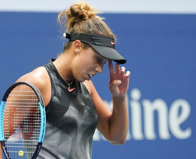 Madison Keys of the USA after losing a game to Sloan Stephens. Photo: Reuters